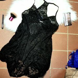 APT 9 Black Lace Chemise Lingerie Size Medium